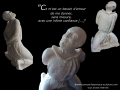 Abandon, ronde-bosse, taille directe, pierre de Lucenay, H: 70 cm, B: 30 x 47 cm, 130 kg