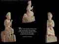 Compostelle 2: L'Adieu, ronde-bosse, taille directe, pierre dorée de Charlieu, H: 57 cm, B: 18 x 28 cm, 35 kg