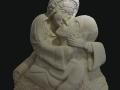 Berceuse, bas-relief, taille directe, pierre de la Teyssonne, H: 68 cm, B: 55 x 20 cm, 90 kg