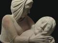 Lacrimae Caravaggio, ronde-bosse, taille directe, pierre de la Teyssonne, H: 78 cm, B: 60 x 30 cm, 120 kg