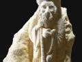 Compostelle 1, bas-relief, taille directe, pierre dorée de Charlieu, H: 50 cm, B: 40 x 20 cm, 50 kg